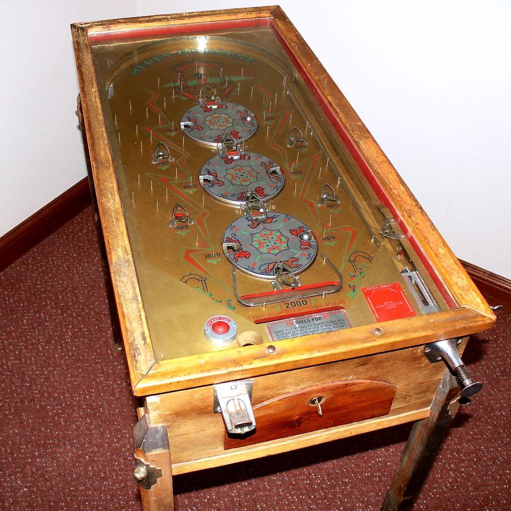 "1934 Gottlieb ""Merry Go Round"" Pinball Game Table EBTH"