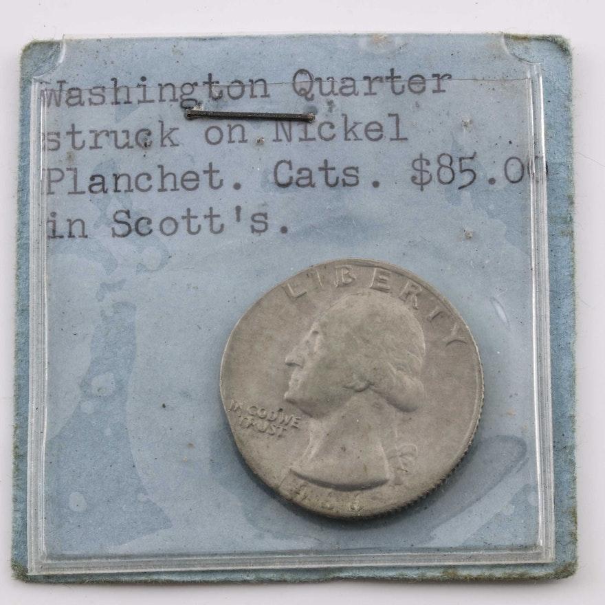 1966 George Washington Error Quarter