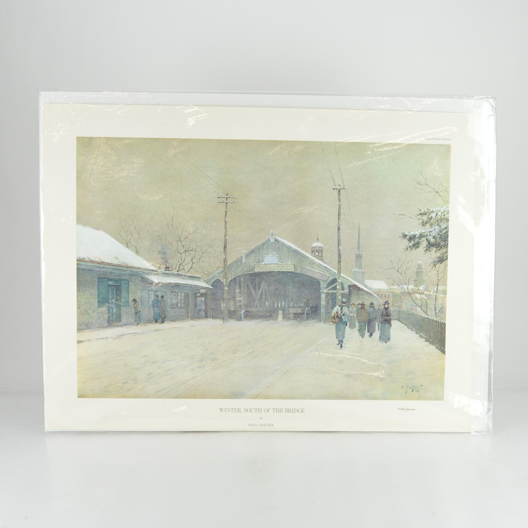 "Paul Sawyier Limited Edition Print ""Winter, South of the Bridge"""