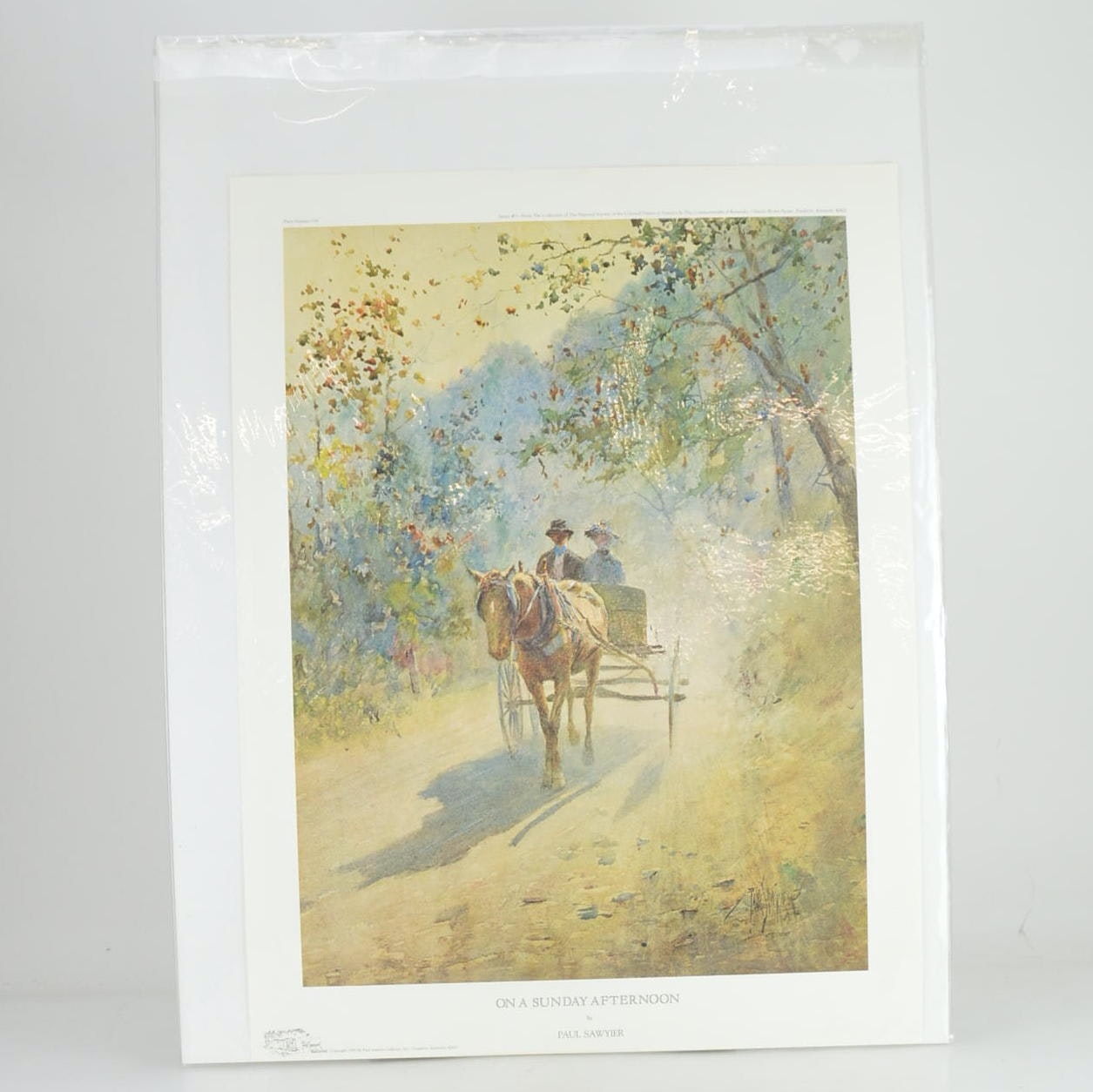 "Paul Sawyier Limited Edition Offset Lithograph ""On a Sunday Afternoon"""