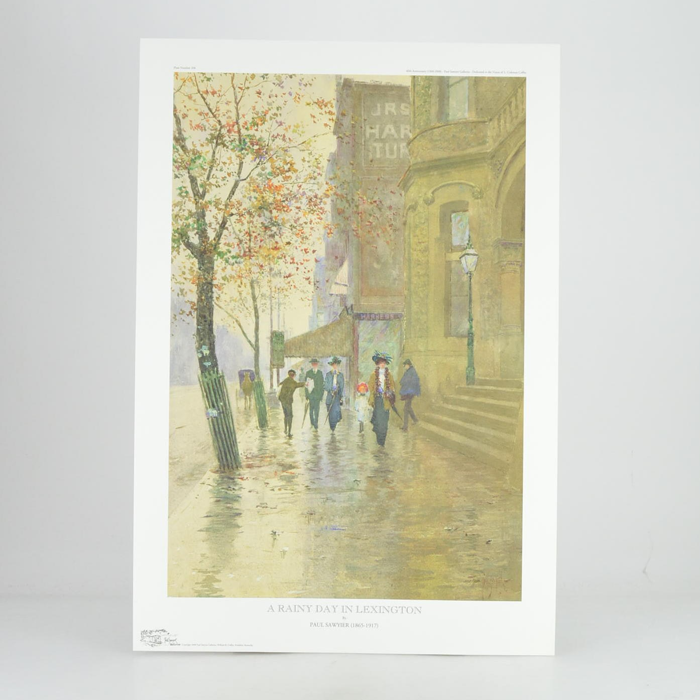 "Paul Sawyier Limited Edition Print ""A Rainy Day In Lexington"""