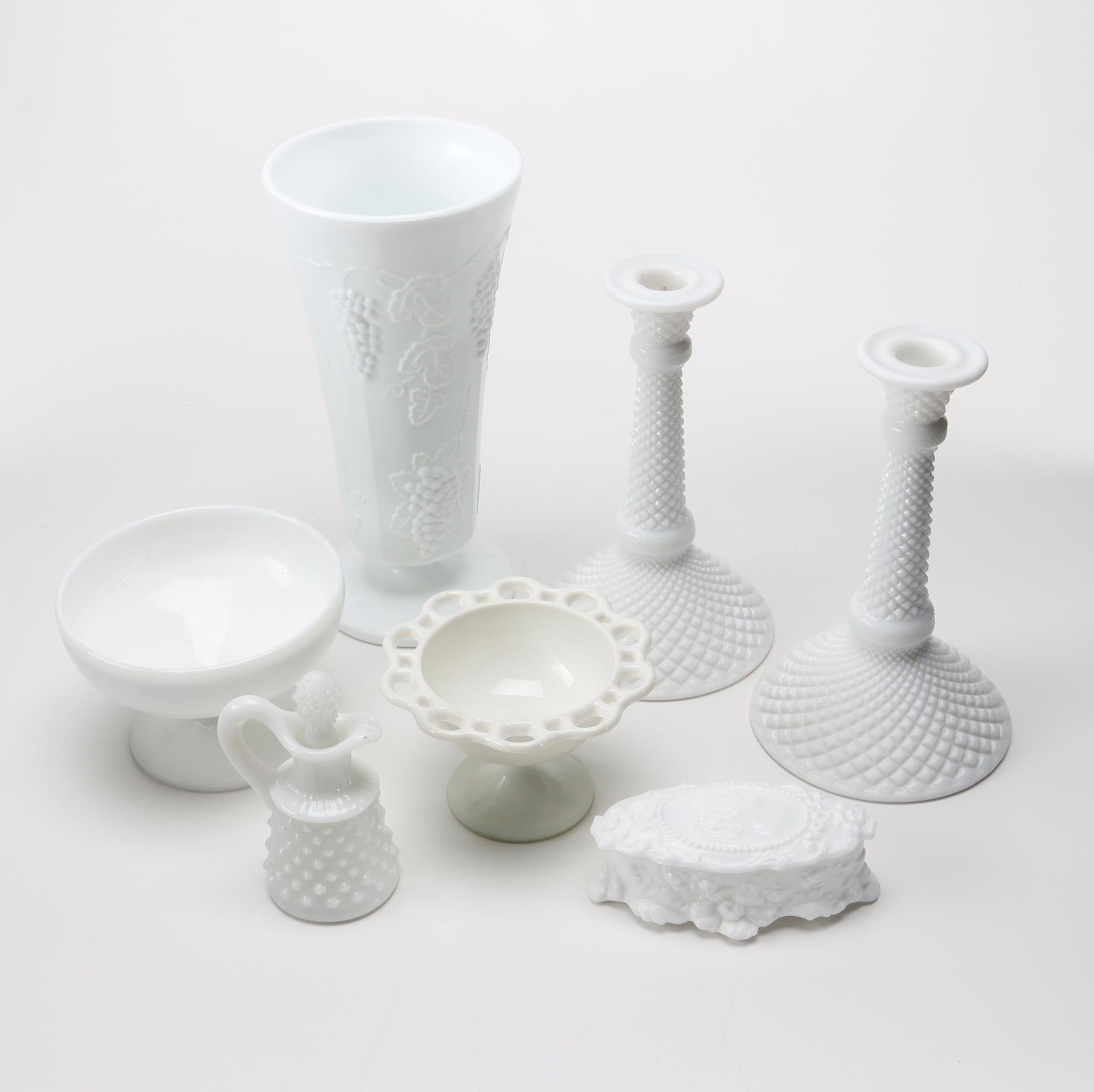 Milk Glass Décor Featuring Fostoria