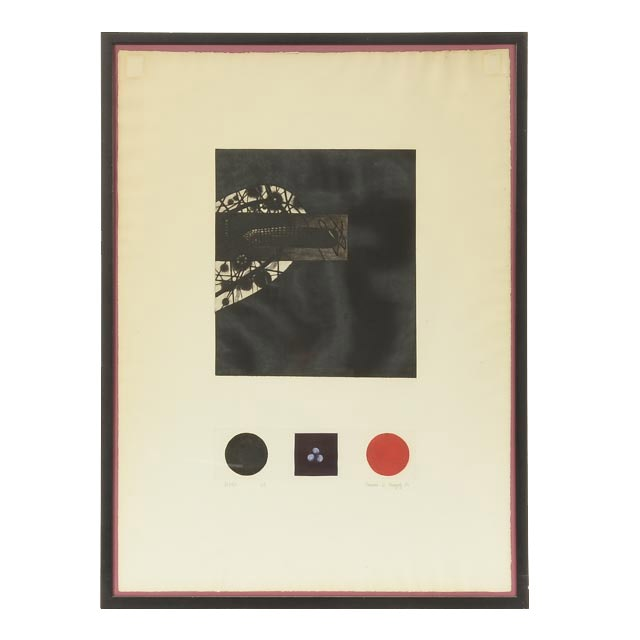 Radoran D. Kragnly 1964 Signed Limited Edition Aquatint Etching