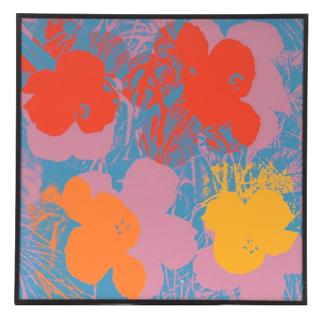 """Serigraph Reproduction after Andy Warhol 1964 Serigraph """"Flowers"""""""