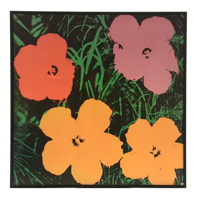 """1993 Offset Lithographic Reproduction after Andy Warhol 1964 Serigraph """"Flowers"""""""
