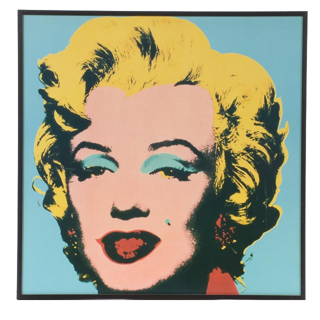 """Offset Lithograph after Andy Warhol """"Marilyn Monroe"""" Serigraph"""
