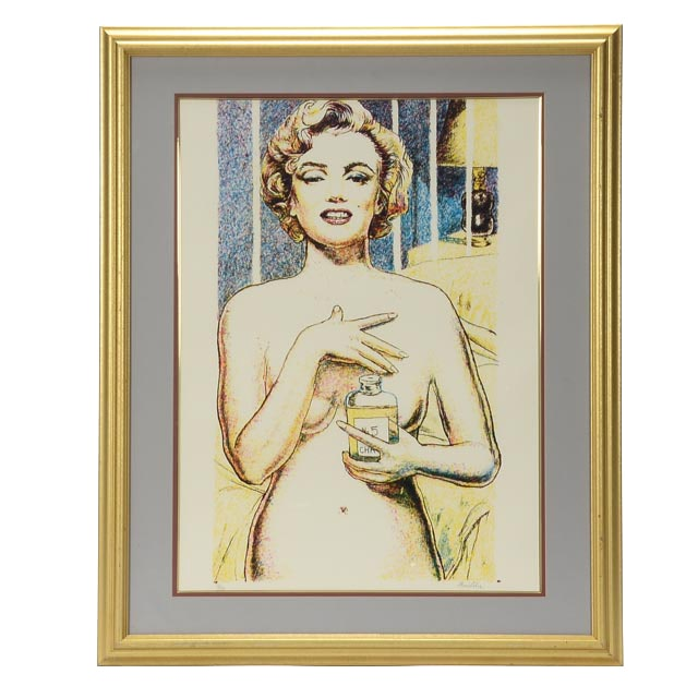 "Tom Lohre Original Limited Edition Serigraph ""Marilyn Monroe"""