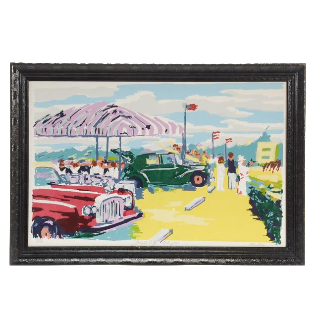 """Tom Lohre Signed Limited Edition Serigraph """"Tailgate Party Wellington"""""""