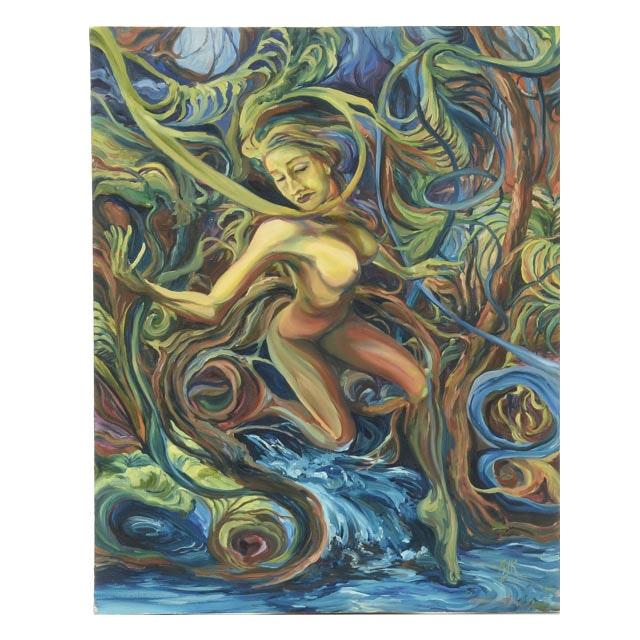 Autumn K Original Oil Painting on Canvas
