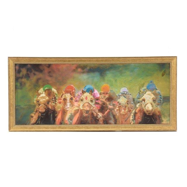Robert Lackney Embellished Giclée on Canvas