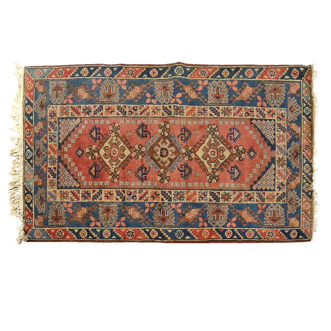 Hand Knotted Persian Accent Rug