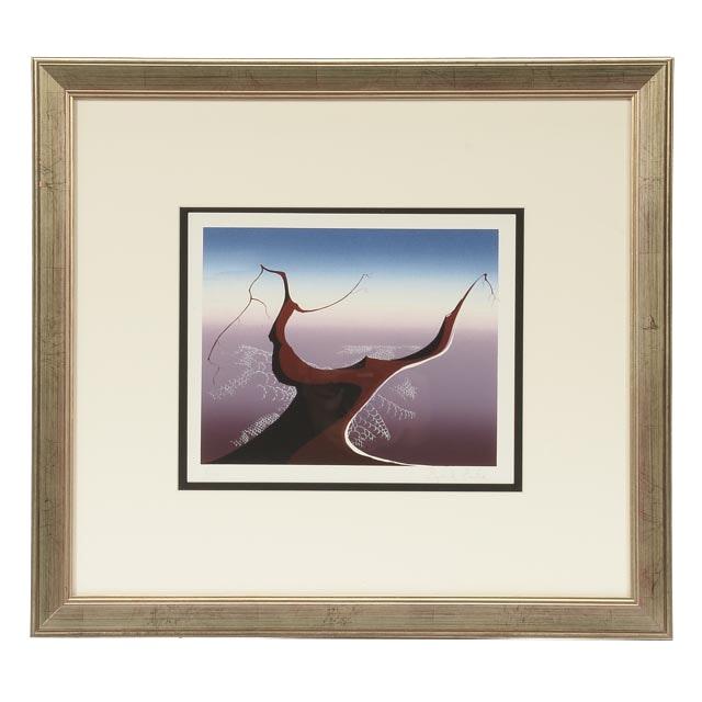 "Eyvind Earle Signed Limited Edition Serigraph ""Desert Tree"""