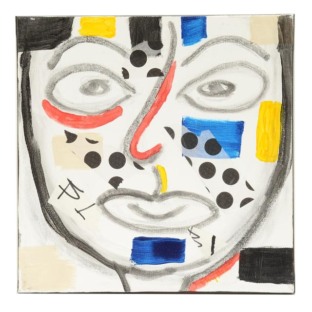 "Phyllis Rinaldi Original Mixed Media on Canvas ""I Primary Man"""