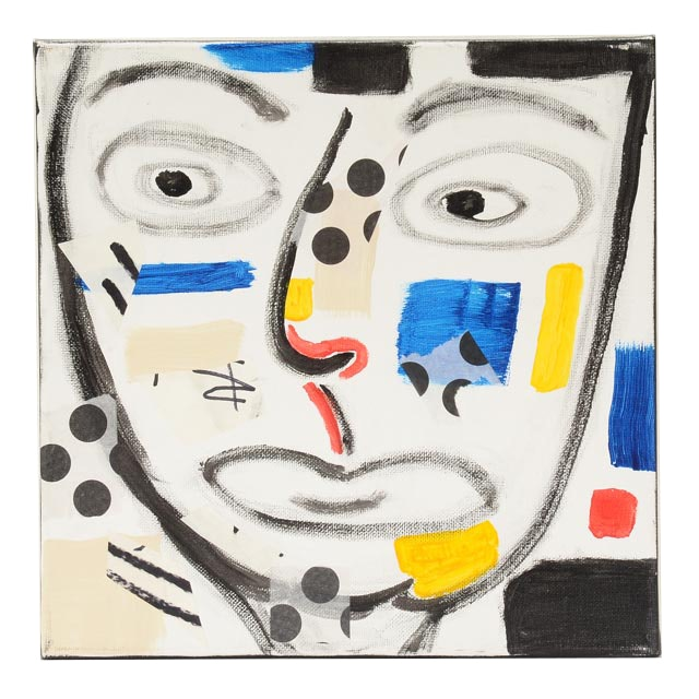 "Phyllis Rinaldi Original Mixed Media on Canvas ""II Primary Man"""