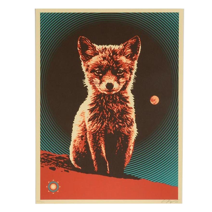 "Ernesto Yerena Signed Limited Edition Serigraph ""Luna Fox"""