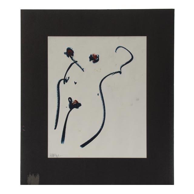 "Robbie Kemper Original Pastel Drawing ""Nude #145"""