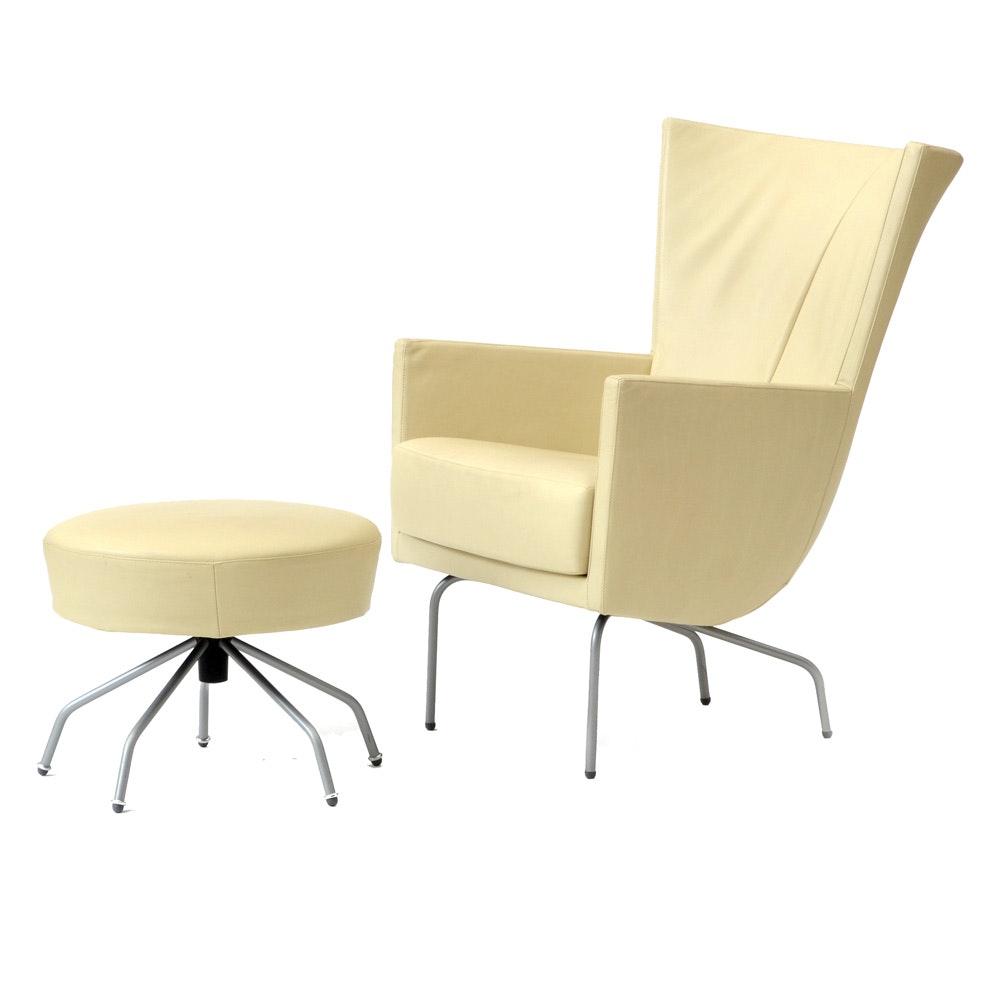 "Montis ""Romeo"" Chair with Ottoman"