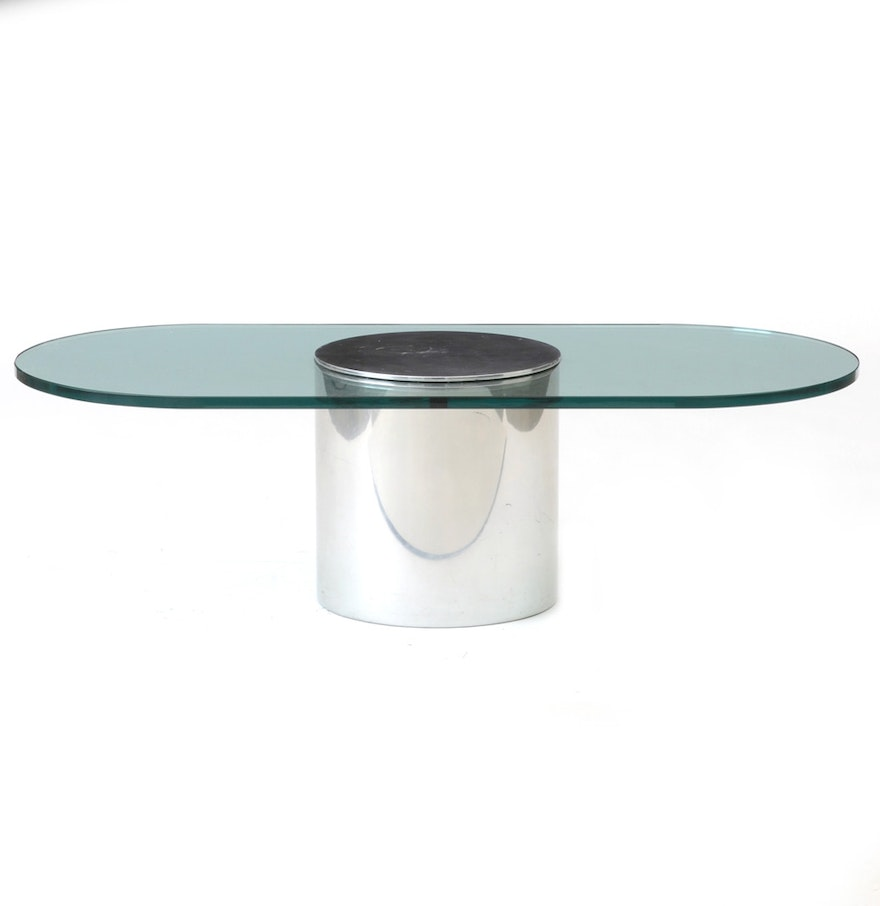 Paul mayen for habitat glass and chrome coffee table ebth paul mayen for habitat glass and chrome coffee table geotapseo Image collections