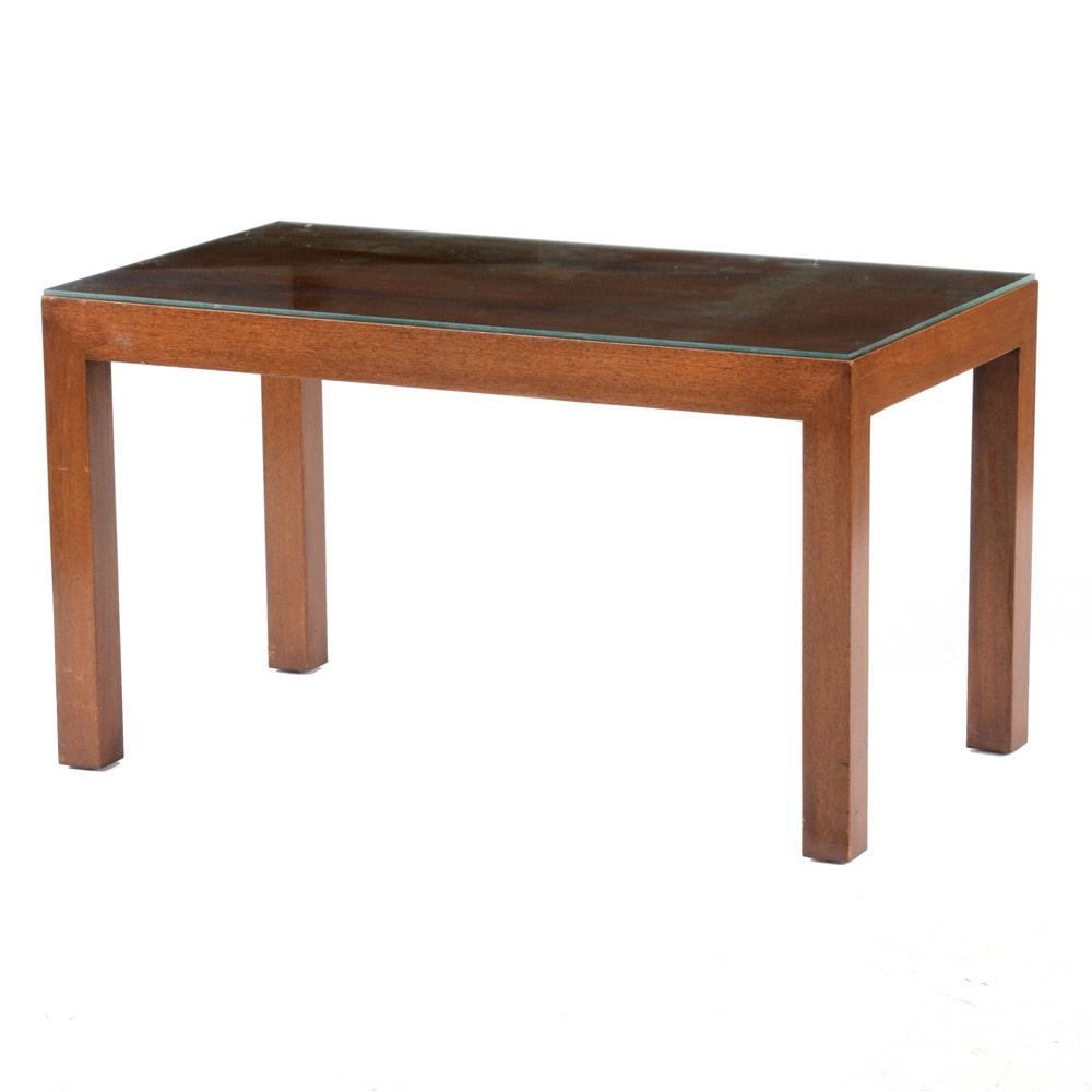 Walnut Parson's Style Coffee Table