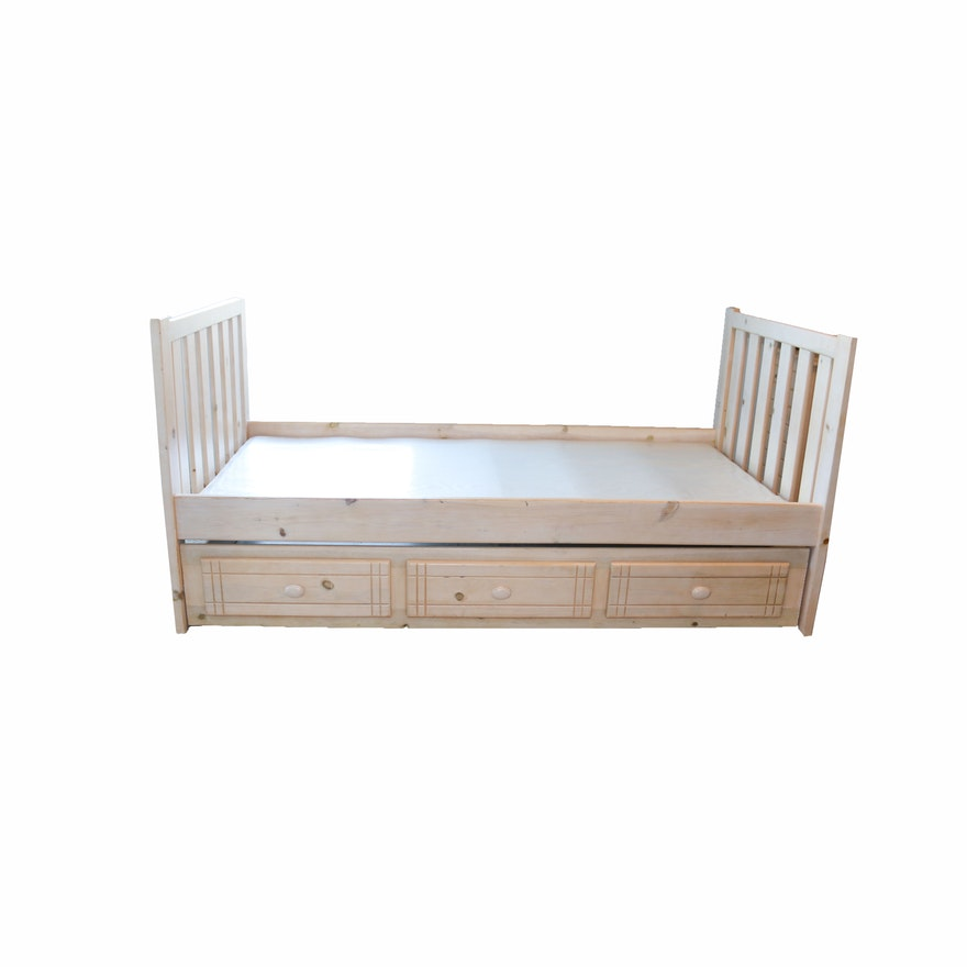Twin Size Unfinished Trundle Bed : EBTH