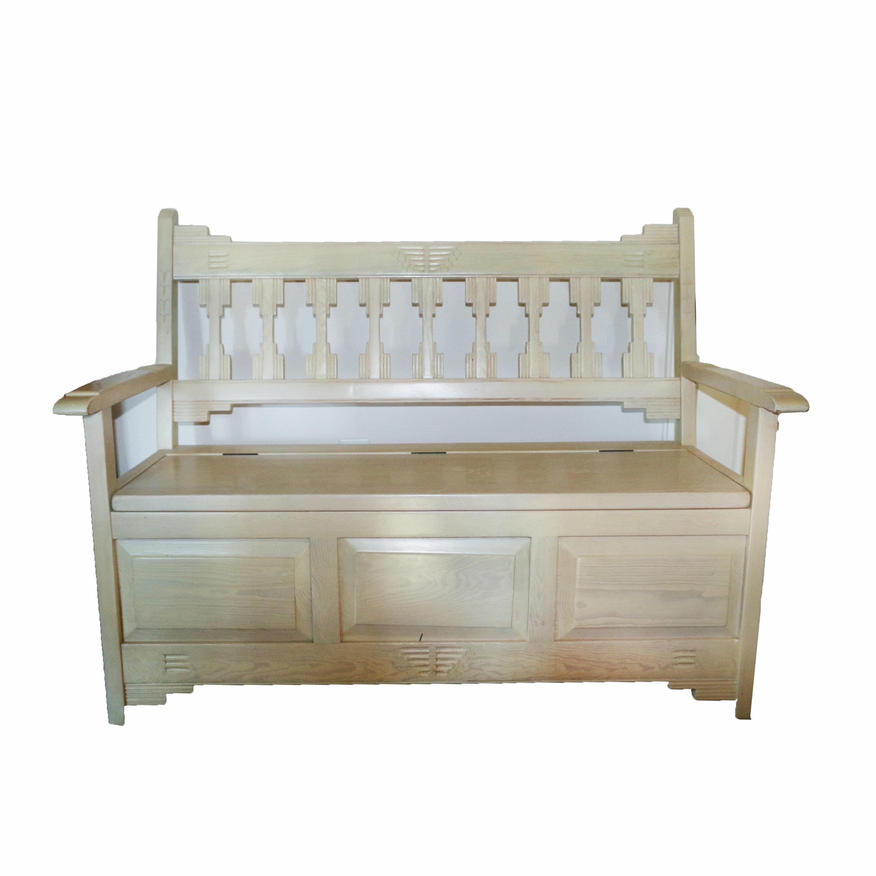 Wooden Storage Bench