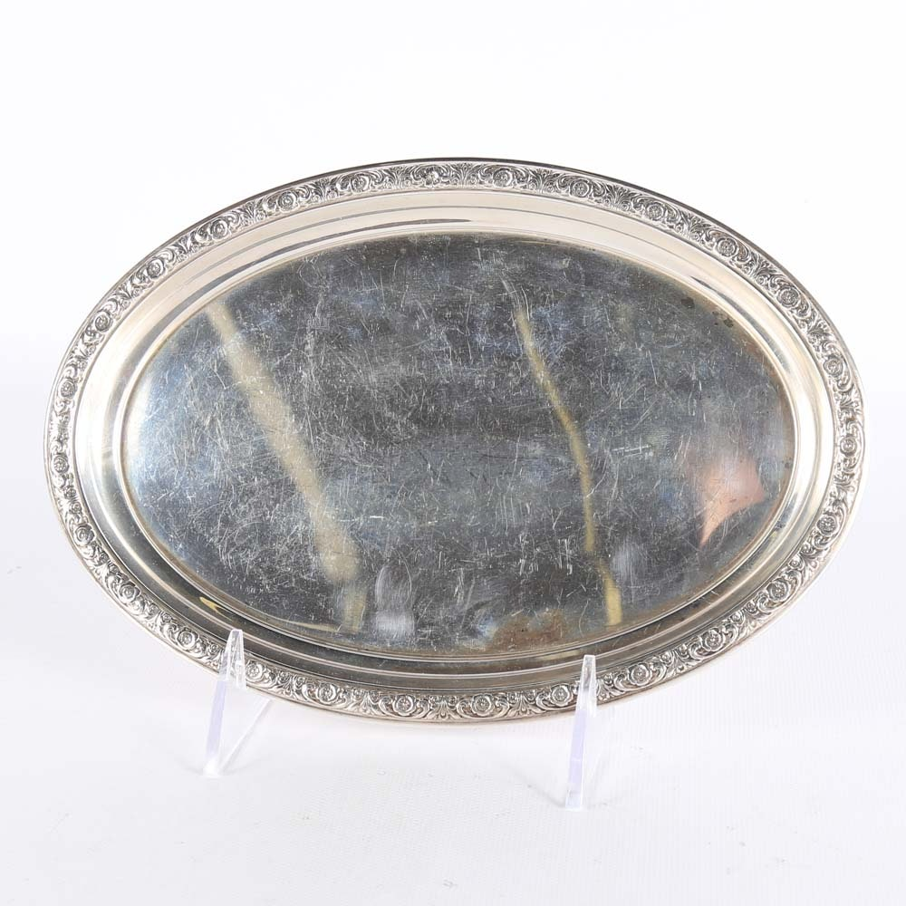 "International Silver Co. Sterling ""Prelude"" Cream and Sugar Tray"