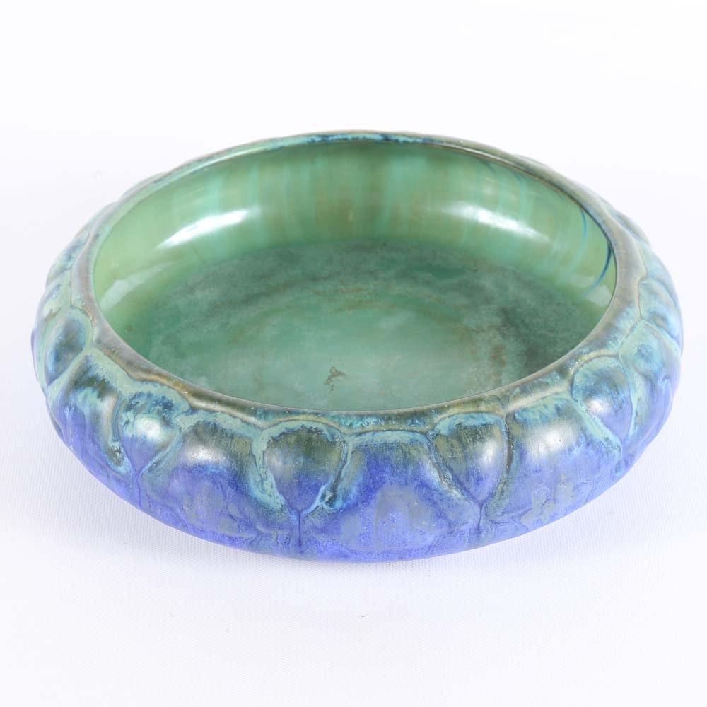 Fulper Pottery Low Flower Bowl