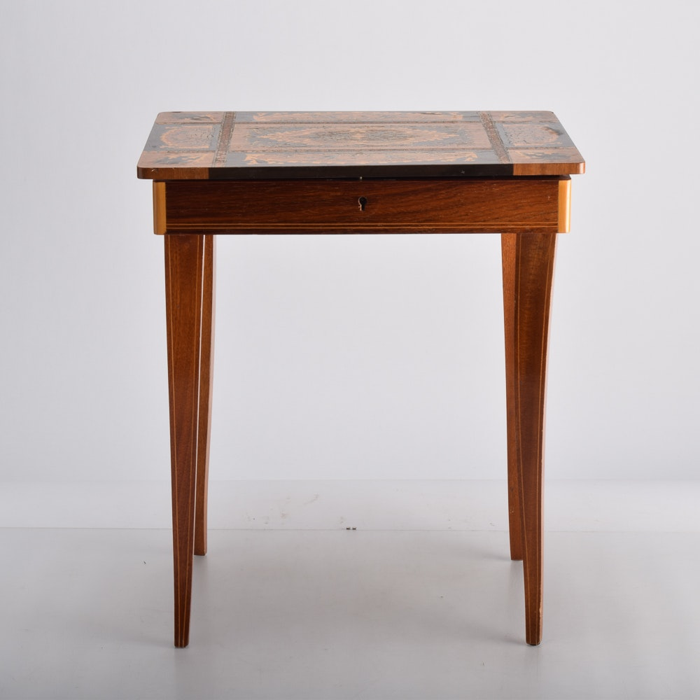Hepplewhite Style Musical Jewelry Table