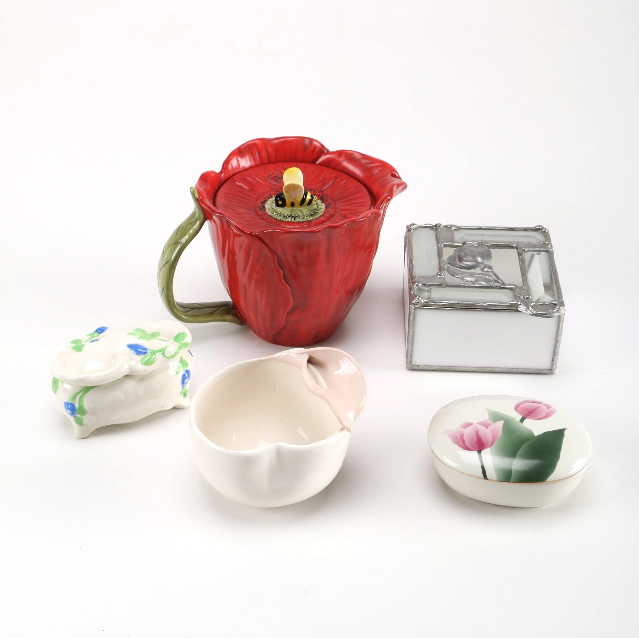 Floral Pitcher and Décor Featuring Otagiri