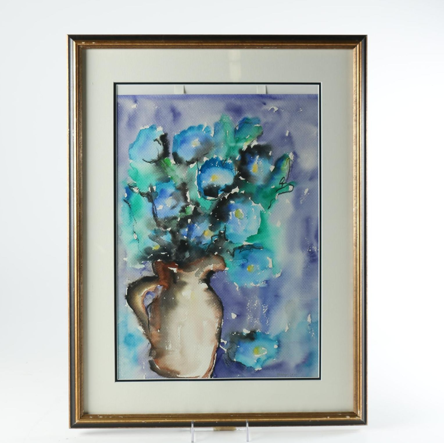 Robyn Levi Original Watercolor on Paper of Still Life Flowers