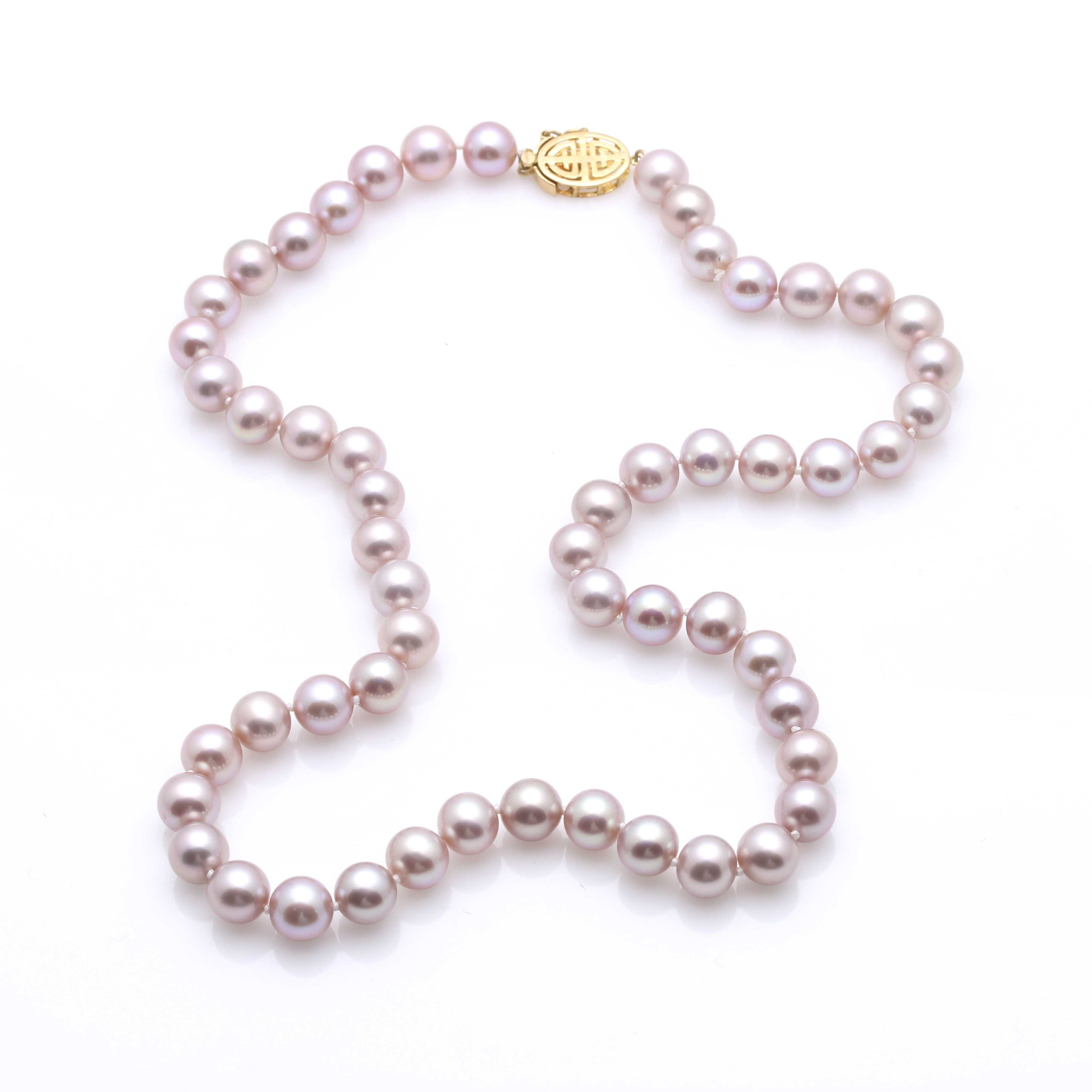 14K Yellow Gold Cultured Freshwater Pearl Necklace