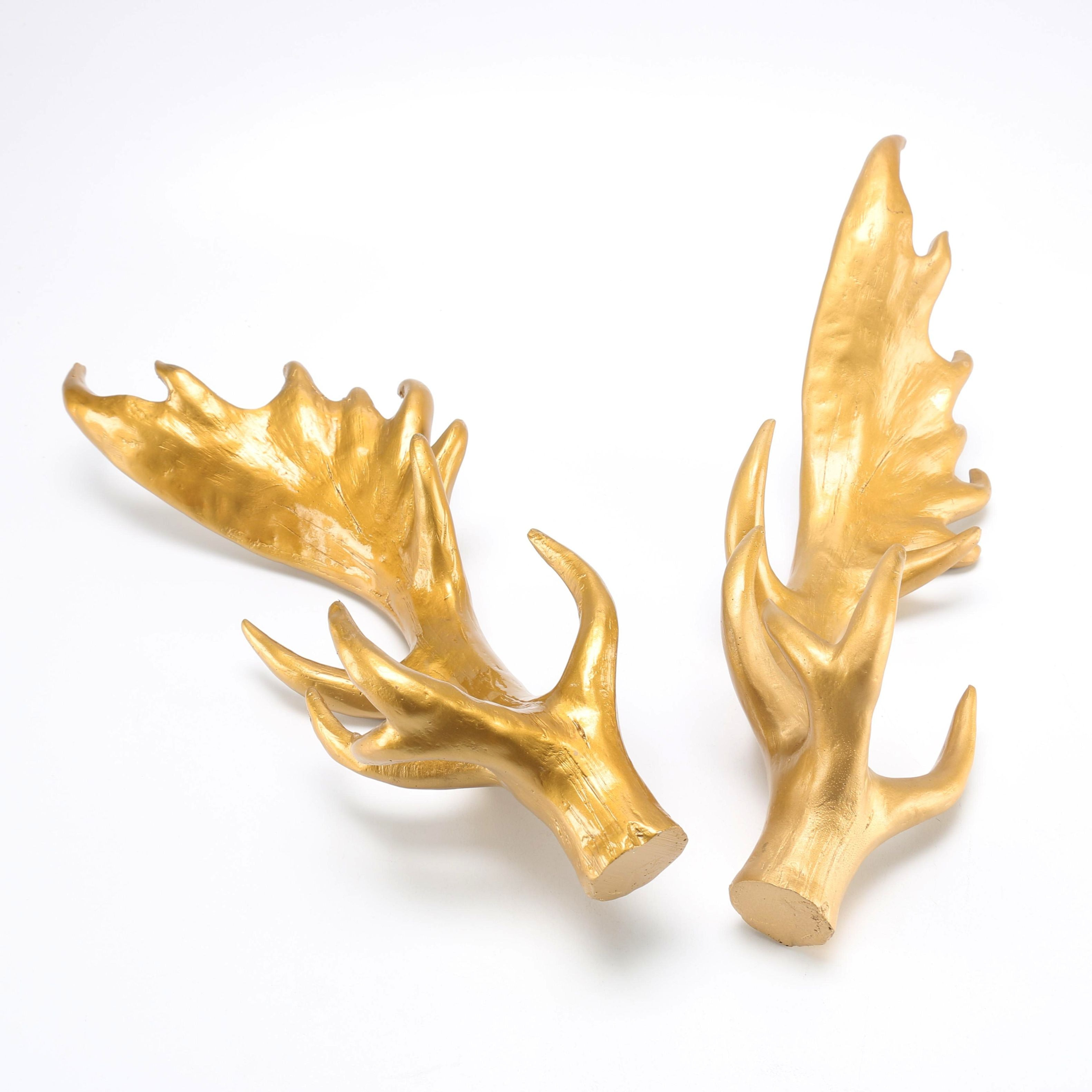 Pair of Gold Tone Antlers
