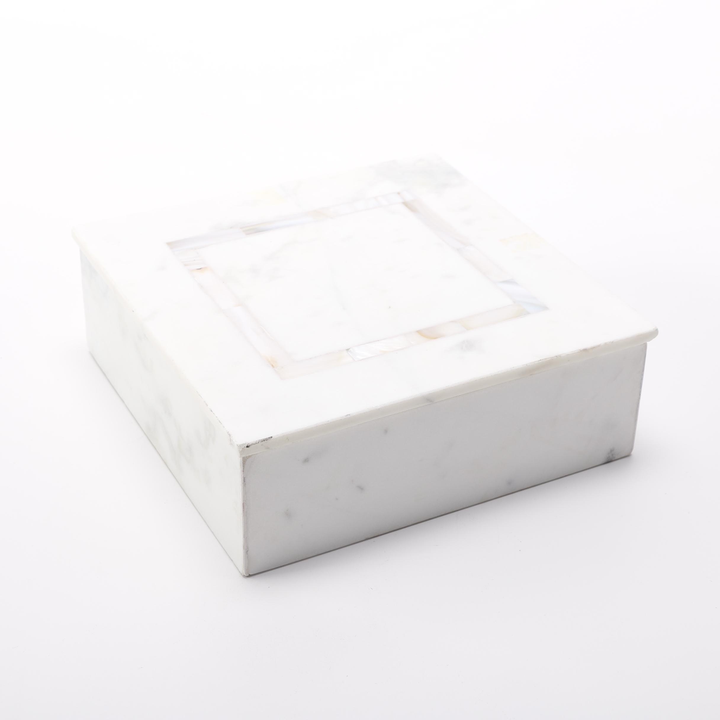 Marble and Mother of Pearl Trinket Box