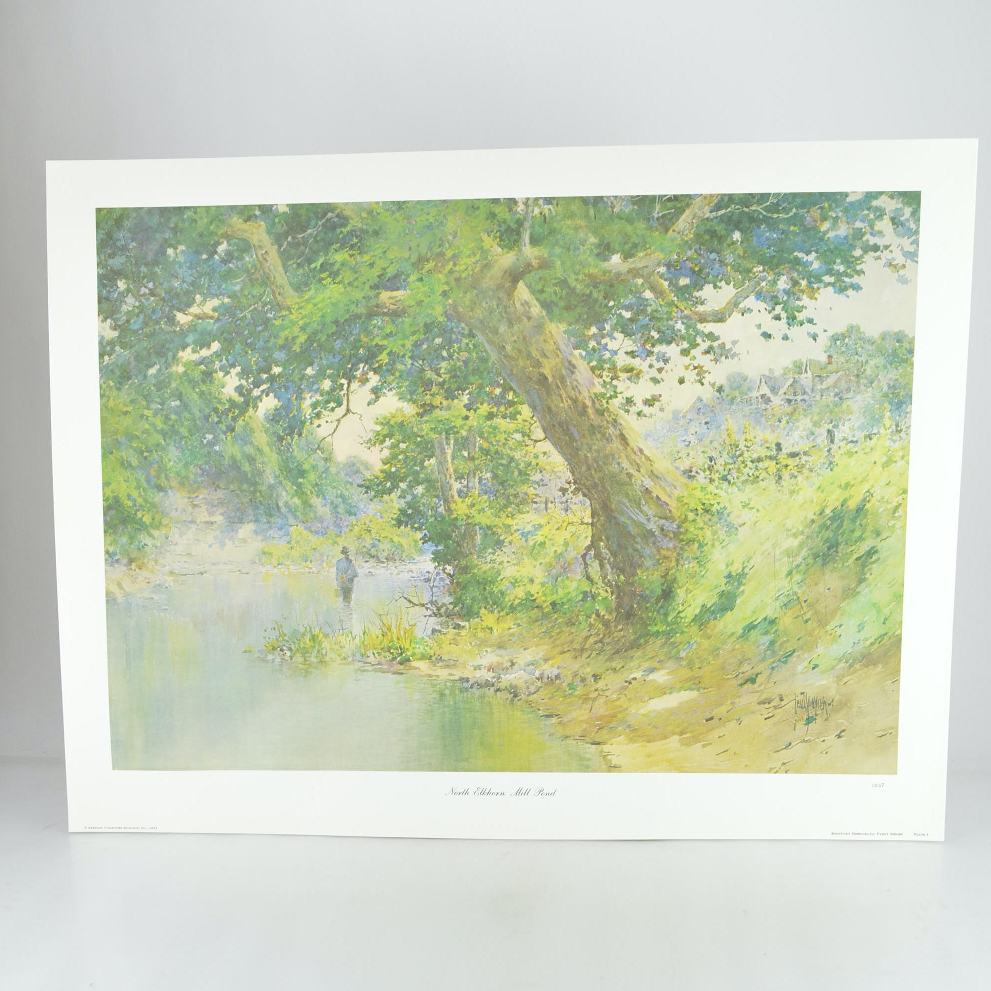 "Paul Sawyier Limited Edition Print ""North Elkhorn Mill Pond"""