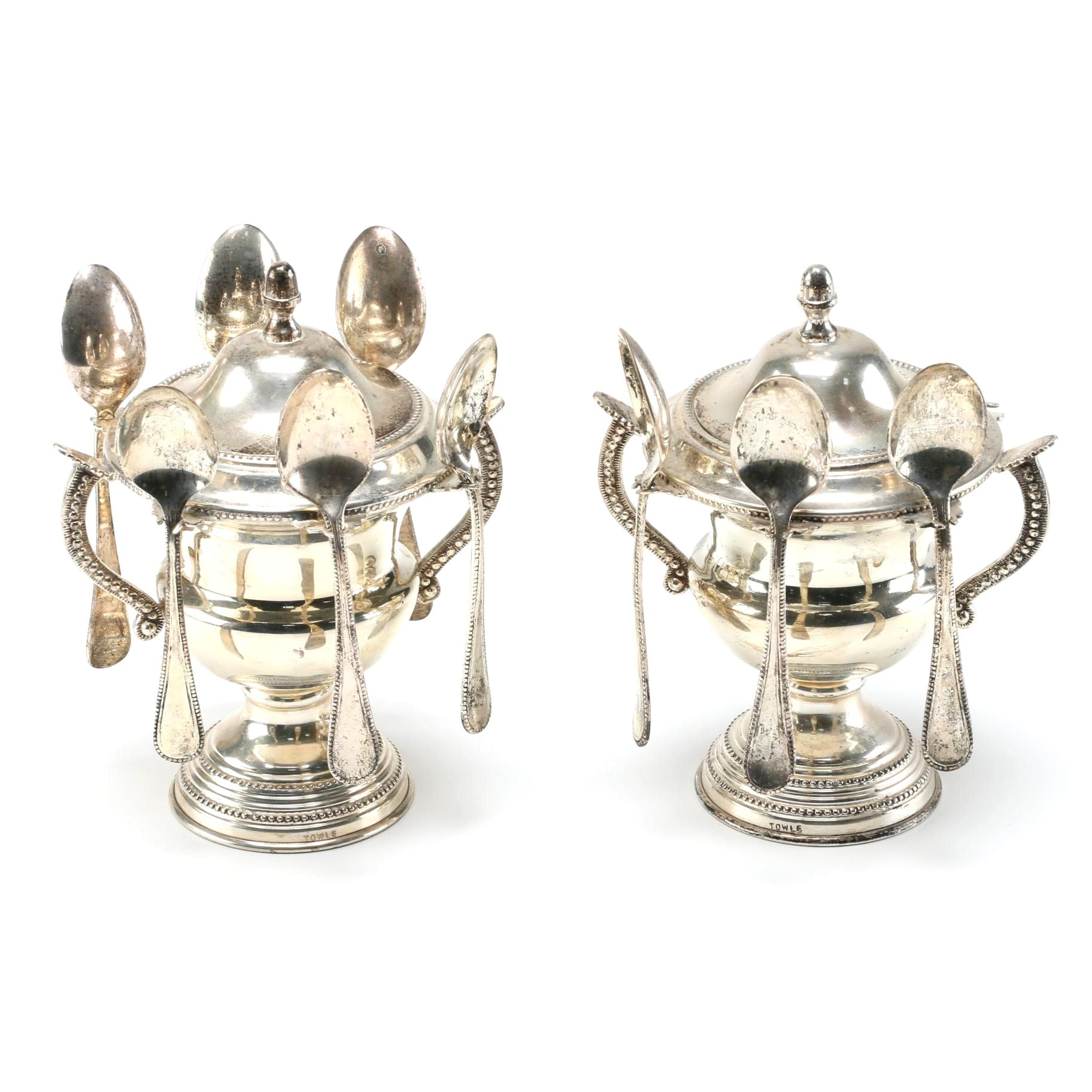 Towle Silver Plate Spooners and Spoons