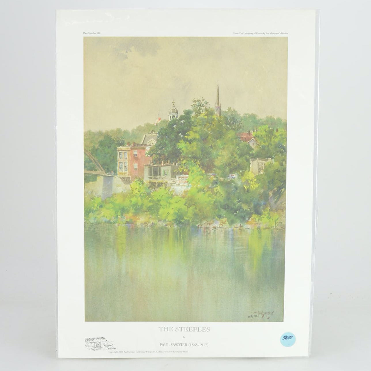 """Paul Sawyier Limited Edition Prints """"The Steeples"""" and """"The First Methodist Church"""""""