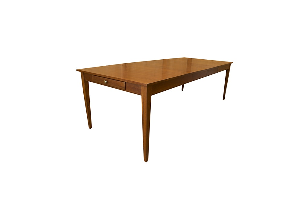 """ethan allen cherry """"american impressions"""" dining table : ebth"""