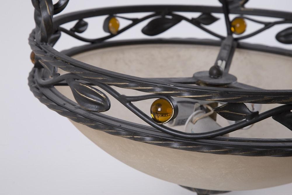 Wrought Iron Pendant Ceiling Fixture