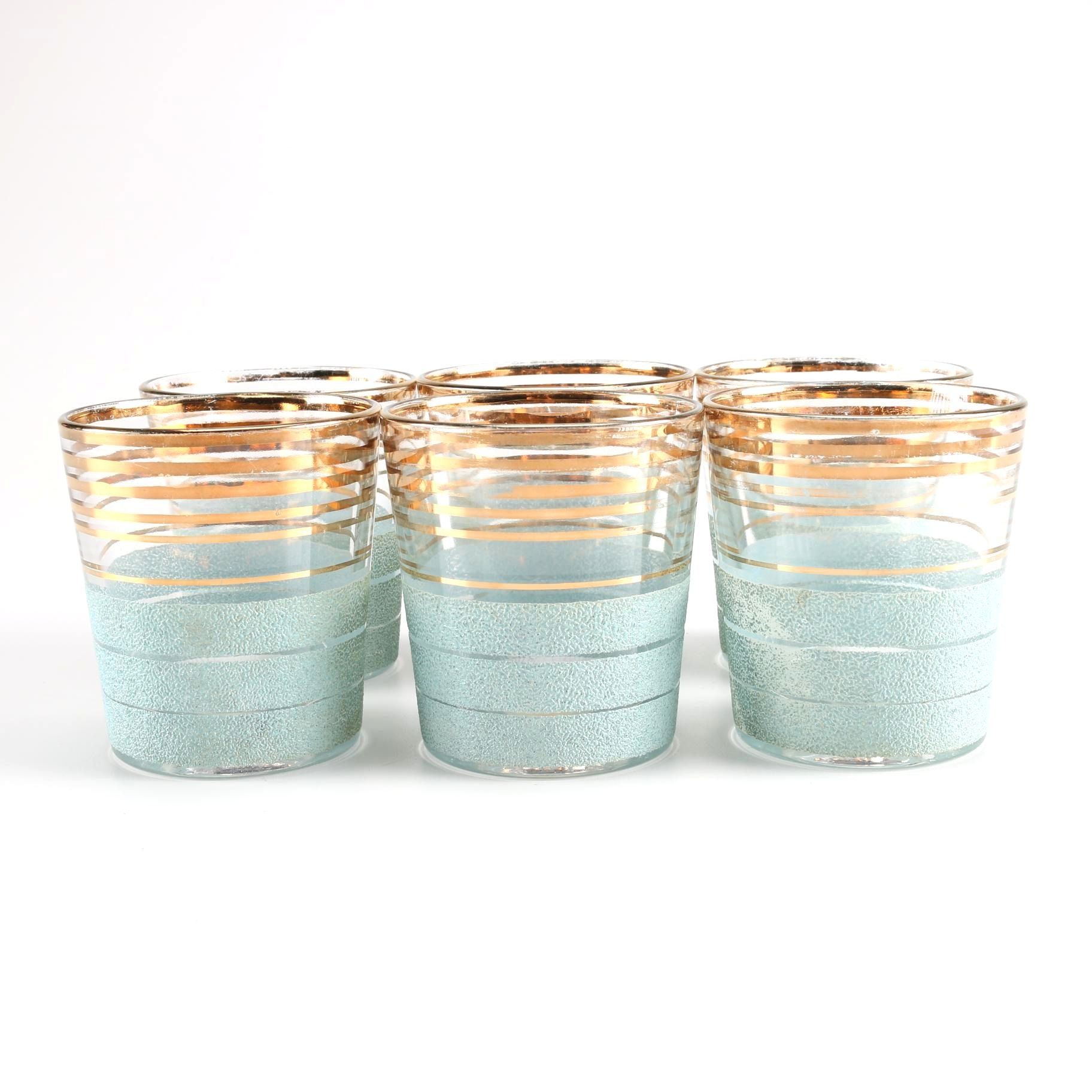 Set of Gold Tone Glasses
