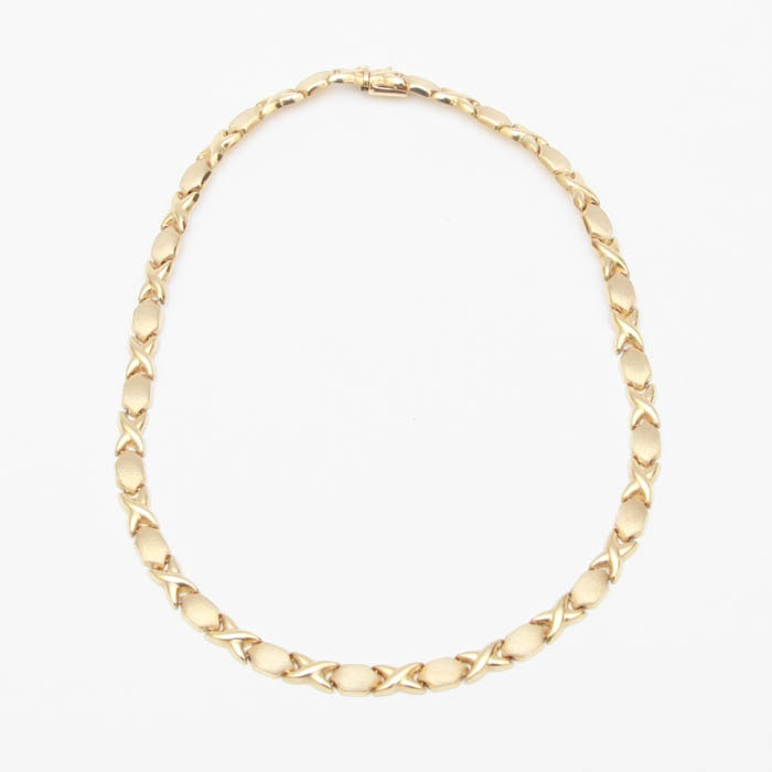 "1980 ""Stampato"" 14k Yellow Gold Necklace"