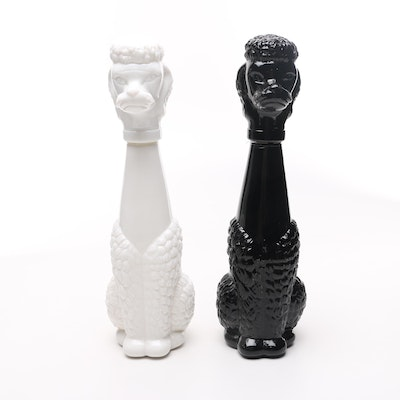 Glass Poodle Decanters
