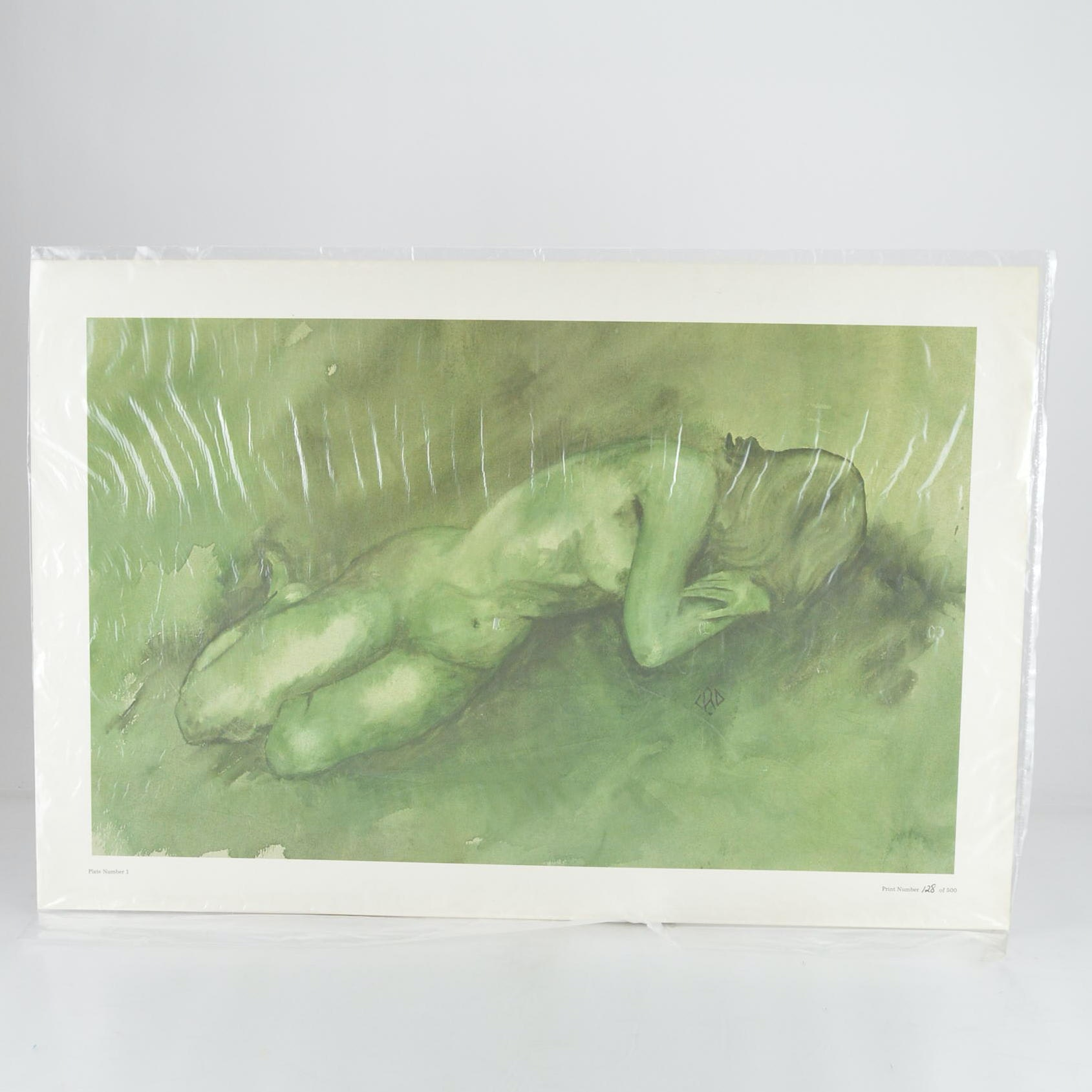 Limited Edition Offset Lithograph Print of Nude