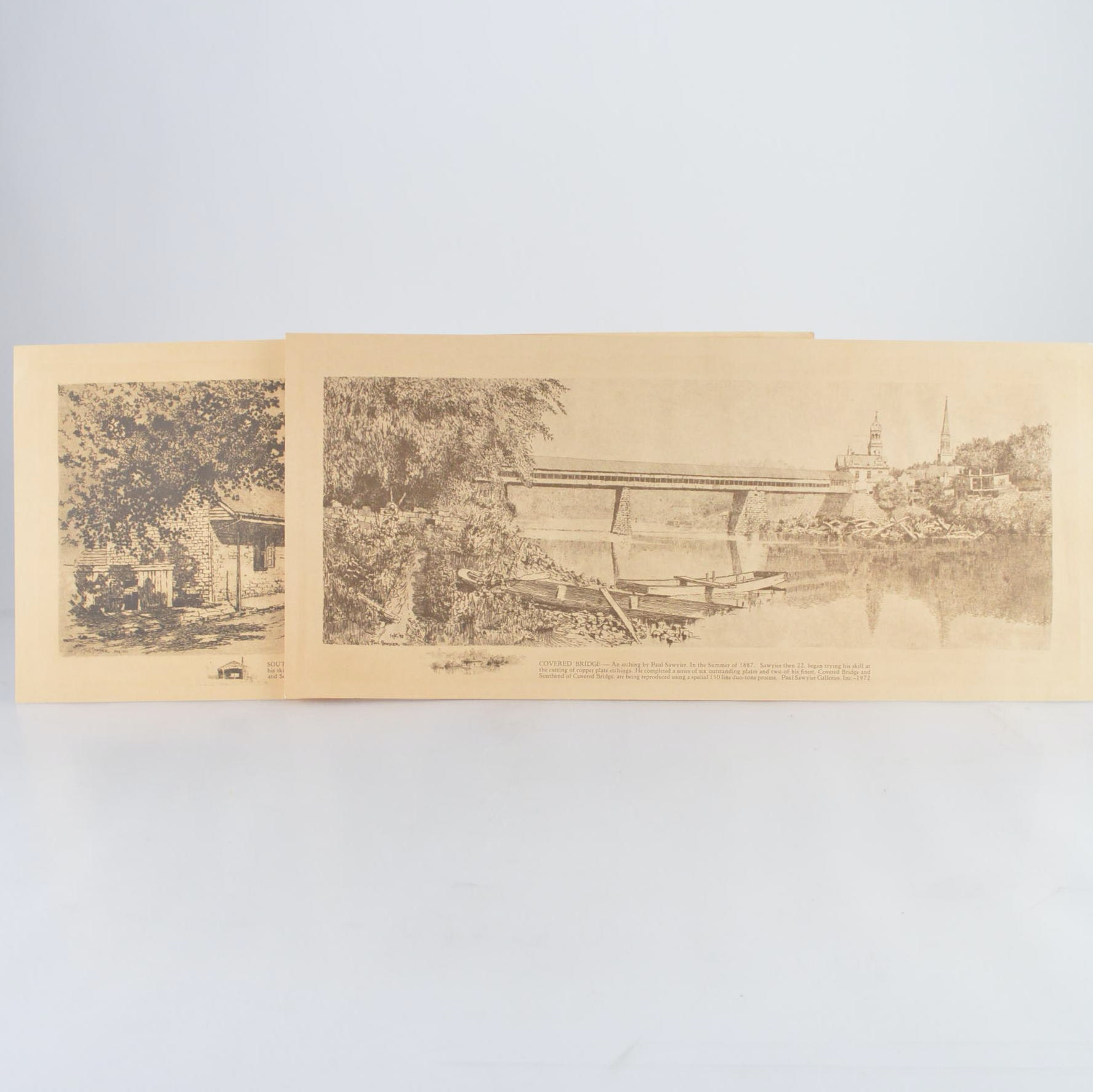 Paul Sawyier Offset Lithograph Reproductions of Etchings
