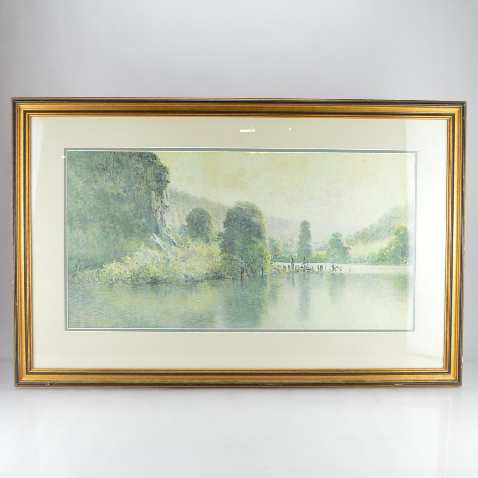 "Paul Sawyier Limited Edition Print ""Cliffs on the Kentucky"""