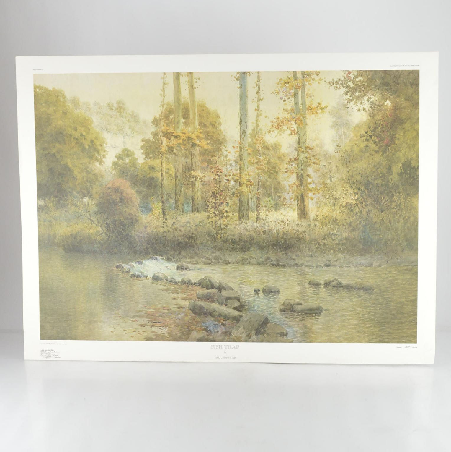"""Paul Sawyier Limited Edition Offset Lithograph """"Fish Trap"""""""