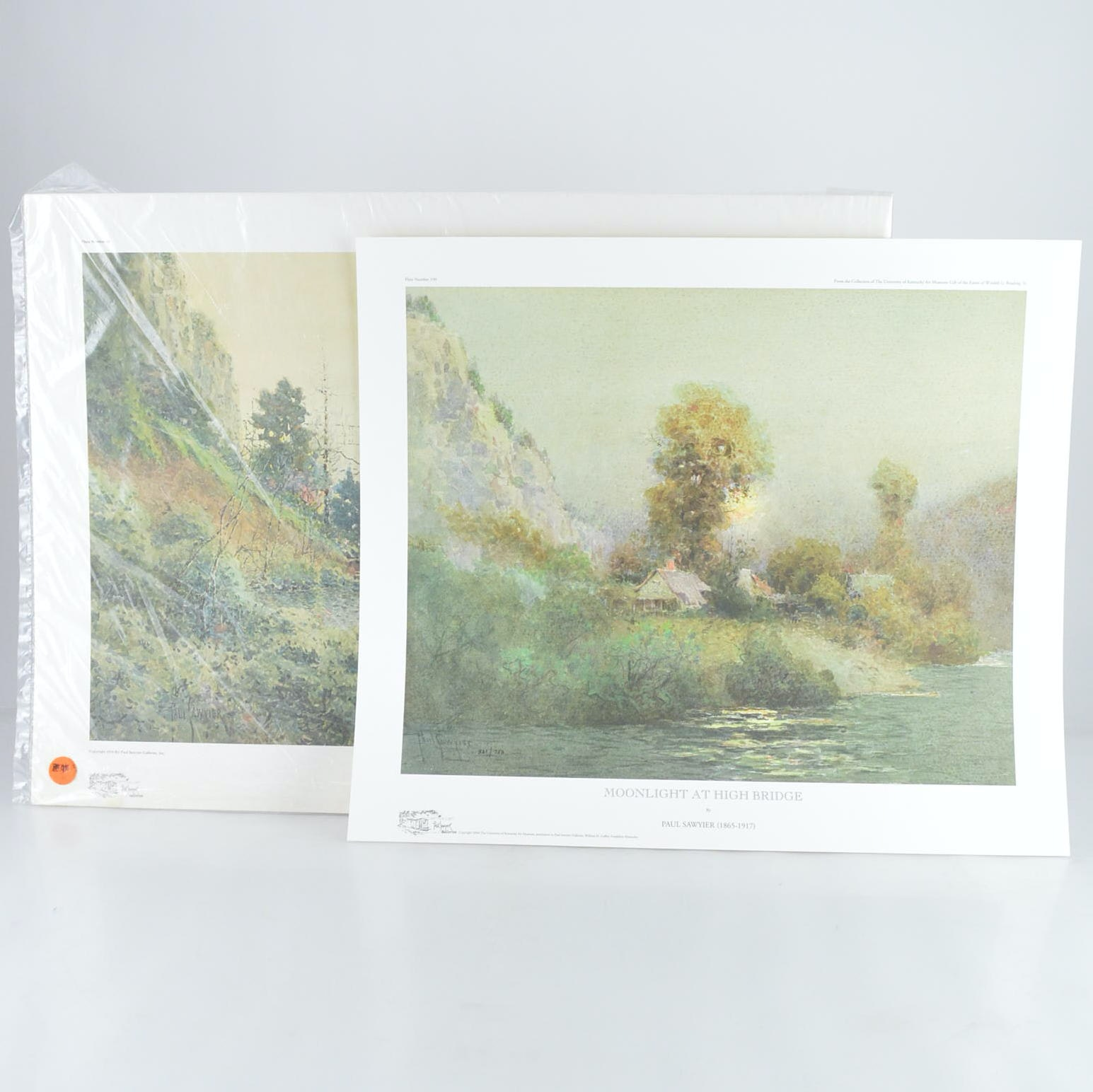 "Paul Sawyier Limited Edition Prints ""High Bridge"" and ""Moonlight at High Bridge"""