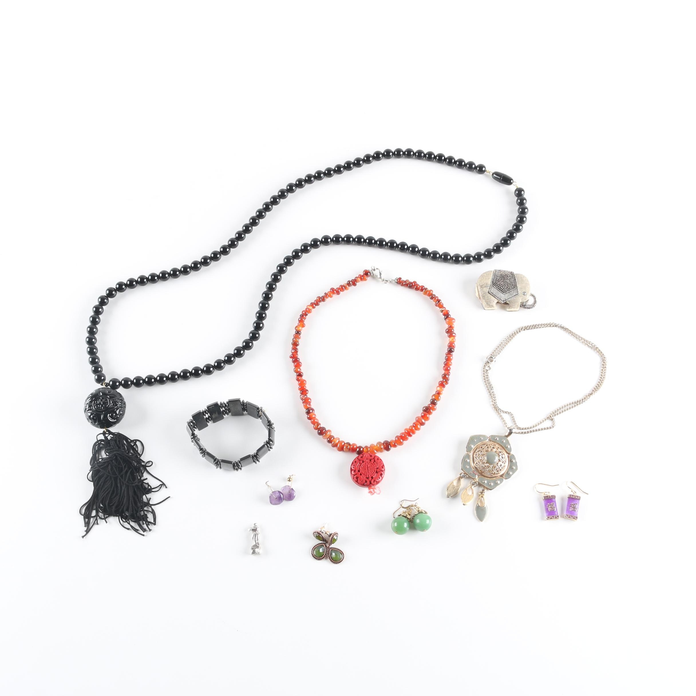 Selection of Asian-Inspired Jewelry