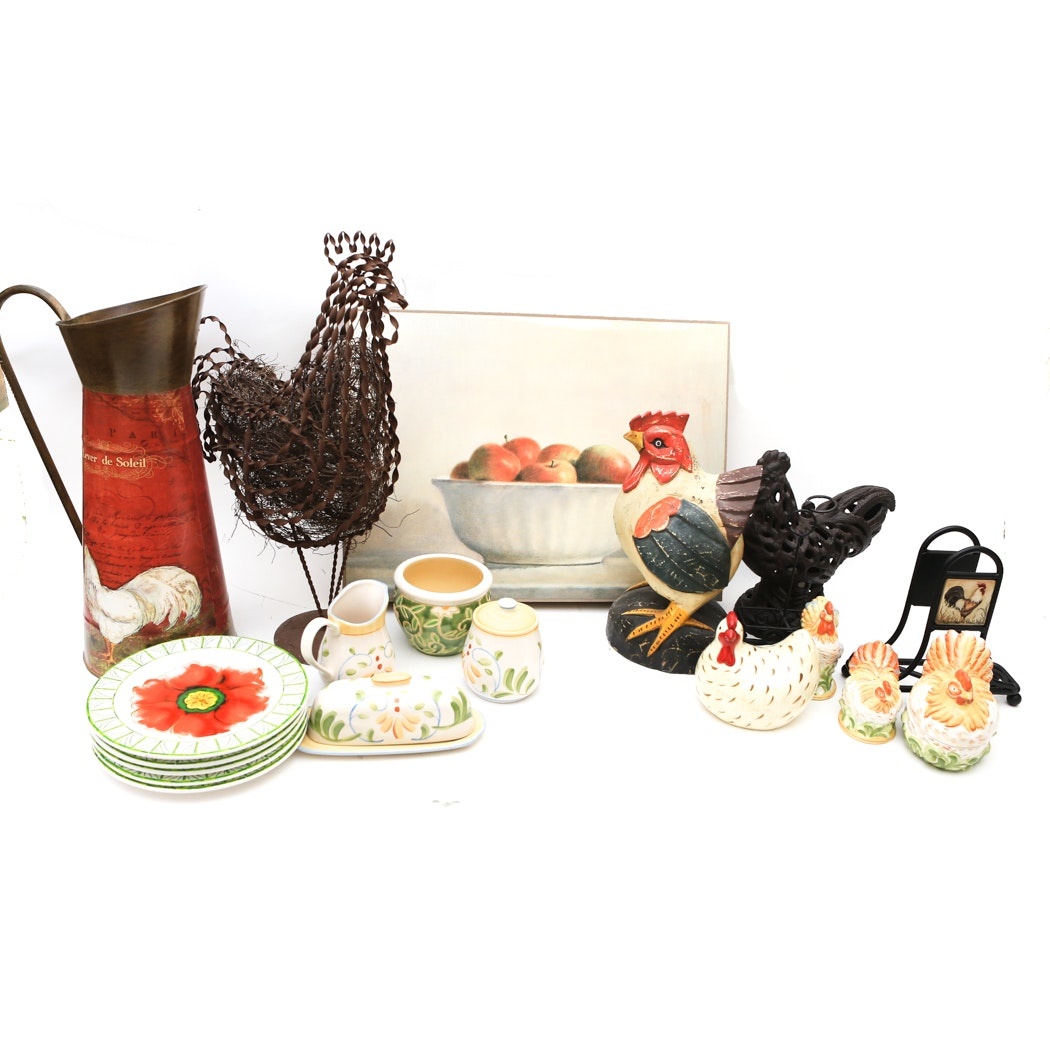 Collection of Chicken Themed Servingware