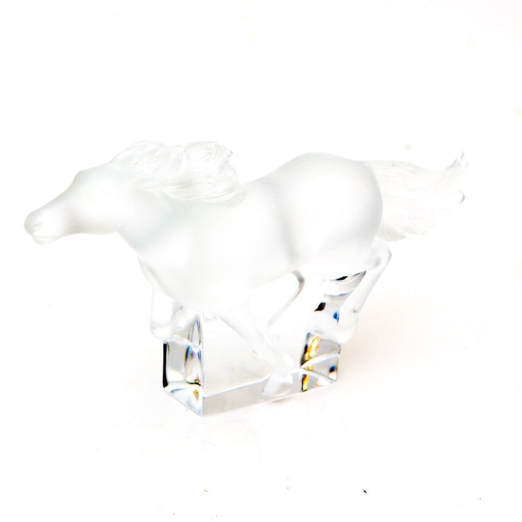 Lalique Galloping Horse Figurine