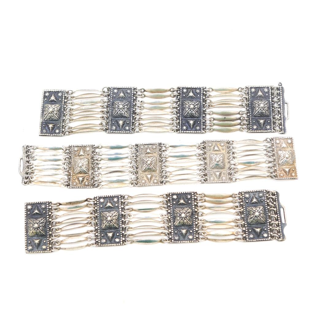 Set of Sterling Silver Bracelets